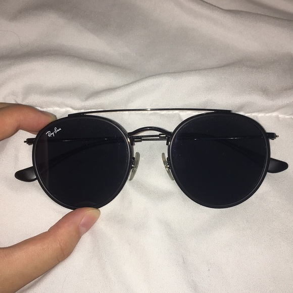 9a9479a9406 Ray-Ban Round Metal Double Bridge 3647 Black. M 5b957967bb761528e8dbe1be